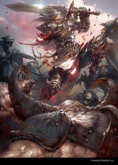 Artist: Marat Ars - Title: The mercenary Sindora Adv - Card: Sterling, Off to War (Kingsblade)