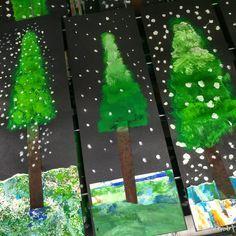 2nd / 3rd / 4th: winter alpine trees
