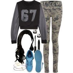 Kira Inspired Outfit by veterization on Polyvore featuring moda, Forever 21, Hudson Jeans, Supra and ASOS