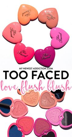 Too Faced Love Flush Blush - Makeup   Bellashoot