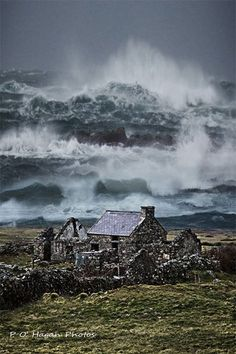 Fanad Head, County Donegal, Ireland. Oh the mighty power of the sea I just love it! Linda Burke.