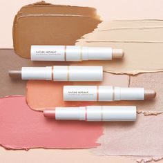 Nature Republic Dual Contour Stick • Released in March 2017 Korean Lipstick, Nature Republic, Just Beauty, Strobing, How To Look Pretty, Contour, Beauty Products, Product Poster, Hair Makeup