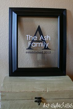 """I love that it says """"established"""" perfect for a wedding gift."""