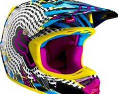 We can't state strongly enough how much we're loving the return of influenced colors and patterns to motocross gear and bikes. Dirt Bike Helmets, Dirt Bike Gear, Motocross Gear, Racing Helmets, Dirt Biking, Benz, Riding Gear, Riding Clothes, Fox Racing