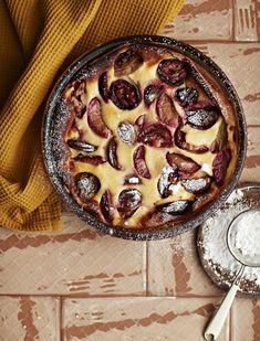 Luumu-clafoutis | Jälkiruuat, Makea leivonta | Soppa365 Acai Bowl, Pie, Baking, Breakfast, Desserts, Food, Bread Making, Breakfast Cafe, Cake