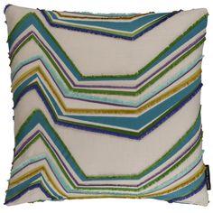 Merengue Zig Citrus Square Cushion