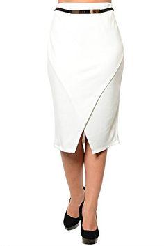 DHStyles Women's Plus Size Classy Fitted Tulip Wrap Professional Skirt with Belt-1X - Ivory DHStyles http://www.amazon.com/dp/B00MXTCZ3Q/ref=cm_sw_r_pi_dp_8z6yub1GTZWSM
