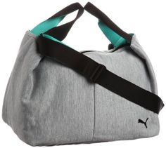 a00436bbcd0 Puma Dizzy Tote 071342 01 Women s Gym Bag 43 x 32 x 26 cm 32 L Athletic Grey    Heather Black  Amazon.co.uk  Luggage