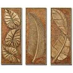 Tropical Ferns Set of 3 Decorative Wall Art Panels - $730 SET OF 3, LAMPS PLUS (BEDROOM?)