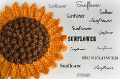 Sunflower potholder - free pattern 198    The sunflower potholder had been in my wish list for a long time. I found the original vintage pat...