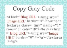 How to Create and Add Code for others to COPY to your Blog Button