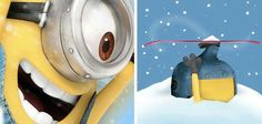 Snowboarding minion   :) that's totally me on the right.