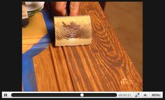 How to paint faux wood grain video.   Technique for cement faux ...