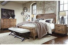 Light Brown Fanzere California King Panel Bed View 5