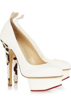 Charlotte Olympia Love Dolly pumps, perfect for a wedding