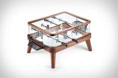 Teckell Intervallo Foosball Table; could be a fun coffee table.