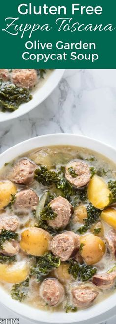 Healthy Gluten Free Zuppa Toscana soup. This recipe is full of fresh ingredients, it's also Paleo, whole30, and dairy free, made with coconut milk.