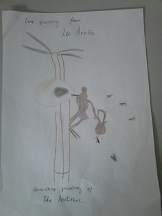 NEOLITHIC PAINTINGS WERE SCHEMATIC AND MONOCROME THEY USED LINES AND CIRCLES TO REPRESENT ANIMALS AND HUMANDS