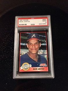 ffddfb35de1 1991 Score David Justice Atlanta Braves  880 Baseball Card PSA 9 Baseball  Scores