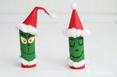 Kid Crafts: Toilet Paper Roll Grinch! @kenchuto Do you have any rolls lying around your place? :)