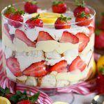 Lemon Strawberry Trifle -