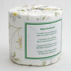Hey, I found this really awesome Etsy listing at https://www.etsy.com/listing/154978459/anniversary-toilet-paper-card-printable