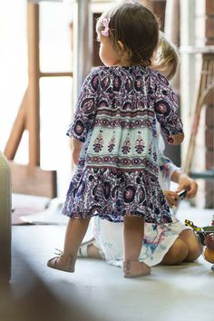 Immy Belle Dress Sky Daydreamer - Arnhem Clothing