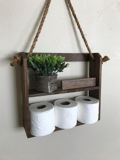 Perfect rustic shelf above the toilet. Stain color is provincial. Made out of reclaimed cedar. Finished screwed together, very rigid. Installation is a breeze, hang shelf usin Rustic Ladder, Rustic Shelves, Bathroom Organisation, Bathroom Shelves, Small Bathroom, Bathroom Ideas, Bathroom Storage, Lowes Bathroom, Bathroom Showers
