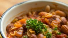 Tuscan Bean Soup is the perfect 'one pot' meal for stormy weather and busy weeknights! Also, it's super healthy! Save some and freeze ahead for next time.