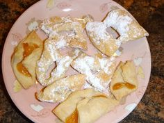 Slovenian Roots Quest: Slovenian Angel Wings: Baked Flancati, A Healthier Update on a Traditional Treat American Kitchen, Polish Recipes, Beignets, Angel Wings, Tis The Season, Cookie Recipes, Food And Drink, Sweets, Traditional