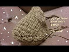 how to make a knitting boy baby hat Baby Knitting Patterns, Baby Cardigan Knitting Pattern, Baby Hats Knitting, Knitting Designs, Knitted Baby Beanies, Knitted Hats, Knitting Videos, Knitting For Beginners, Crochet Coat
