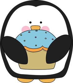 Penguin with a Cupcake http://www.mycutegraphics.com/