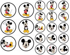 Mickey Mouse - Sticker - Toppers.