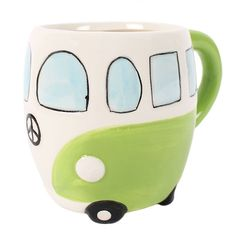 Wholesale Green campervan mug - Something Different