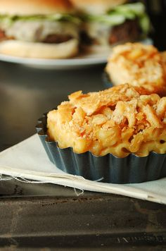 Homemade Macaroni and Cheese Topped with Crushed Ritz Crackers
