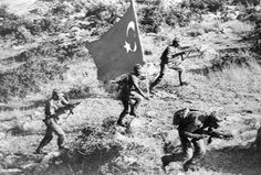 Turkish infantry advances on the outskirts of Nicosia during Operation Attila. July/August 1974.