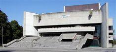 House of Arts Piestany Slovakia Brutalist Buildings, Easy Rider, School Architecture, Tours, Outdoor Decor, Communism, Ferdinand, Interior, Indoor