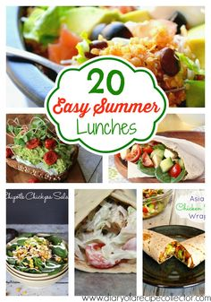 Easy Summer Lunch Ideas | Diary of a Recipe Collector