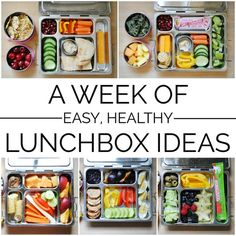 A roundup of a week's worth of easy, healthy lunchbox ideas plus tips and tricks for making lunch packing simple and painless.