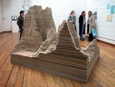 Abigail Reynolds: Mount Fear (data sculpture of city crime statistics)