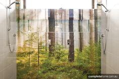 forest shower splashback