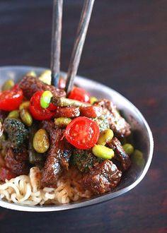 How To Make Beef Stir Fry with Miso Bourbon Teriyaki Sauce Beef Recipe