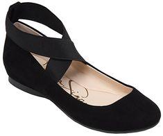 $50 Amazon.com | Jessica Simpson Women's Mandayss Ballet Flat, Black, 8.5 M US | Flats