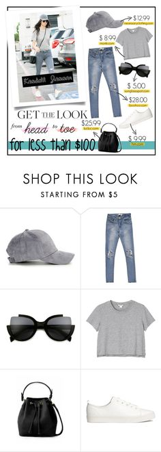 """""""FASHION : Kendall Jenner"""" by yorgitaa ❤ liked on Polyvore featuring Ultràchic, Monki, H&M, GetTheLook, basic, hats, grey and sneakers"""