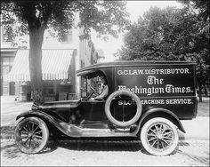 Photo of Washington Times newspaper truck, Washington D.C.    PHOTOGRAPHER / CREDIT: National Photo Company Collection  DATE: 1920s