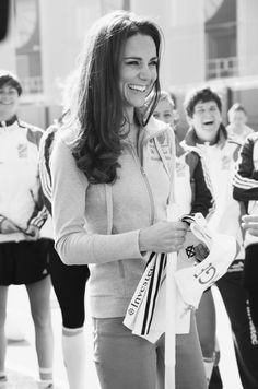 This image of the Duchess taken by Jillian Edelstein during Kate's visit to the Olympic Park in March is part of the Road to 2012: Aiming High Olympic exhibition at the National Portrait Gallery © Jillian Edelstein/National Portrait Gallery/BT Road to 2012