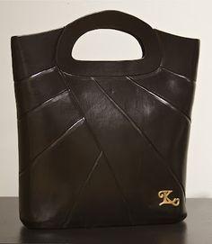 Black clay purse.