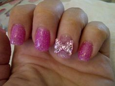 Sparkly pink with 3D bow