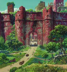 """Tales from Earthsea ゲド戦記"" by Kazuo Oga Background Art 