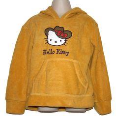 NEW Hello Kitty Girls Microfleece Hoodie Hooded Top Yellow Size 3 4 Hoods, Hello Kitty, Yellow, Sweatshirts, Girls, Sweaters, Fashion, Moda, Cowls